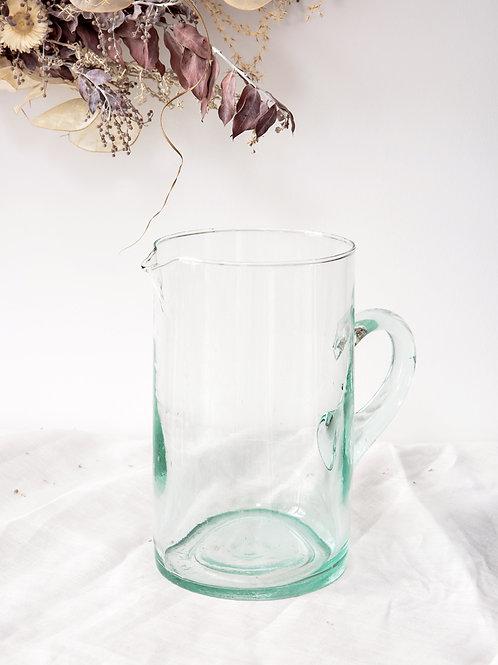 Carafe verre soufflé transparent (grande)