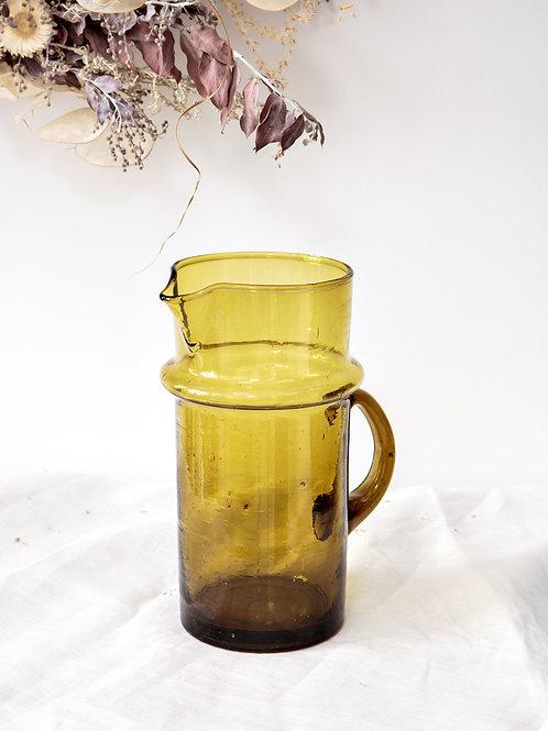 Carafe verre soufflé BELDI marron