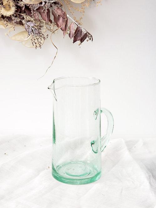 Carafe verre soufflé transparent (petite)