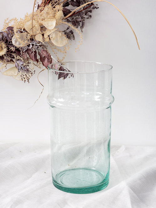 Vase verre soufflé BELDI transparent grand