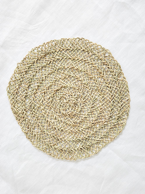 Set de table palmier tourné