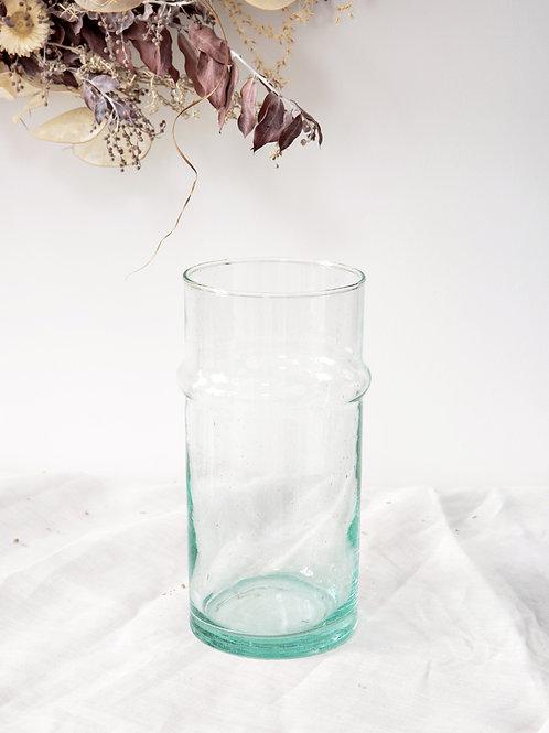Vase verre soufflé BELDI transparent petit