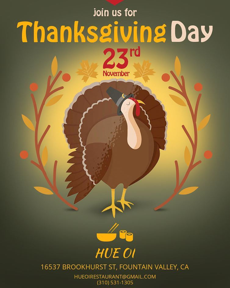 Open Thanksgiving Day