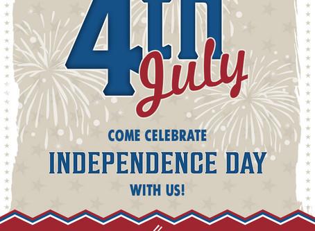 Happy July 4th!  We're OPEN!