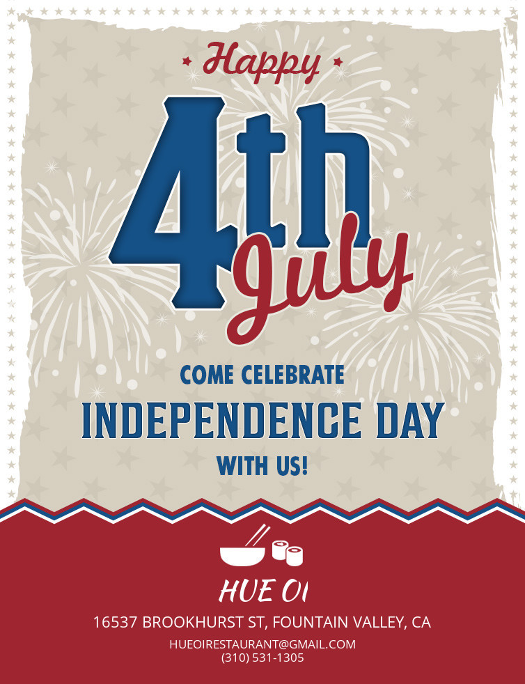 Hue Oi is OPEN on July 4th!