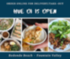 Hue Oi is Open.  Order Online for Delivery or Take Out