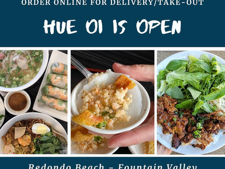 HUE OI is here to serve you in anyway possible.  Our restaurants will remain open for as long as we