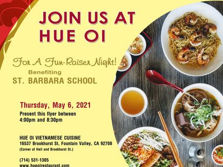 St Barbara School Fundraiser THIS THURSDAY 05/06/21