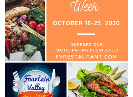 Fountain Valley Restaurant Week starts TODAY!