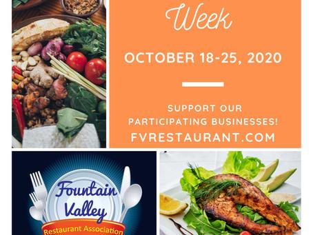 Fountain Valley Restaurant Week starts TODAY!
