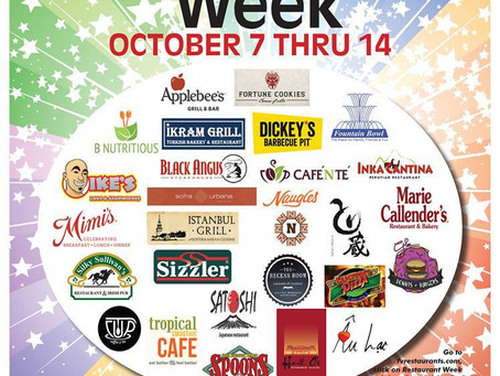 2nd Annual Fountain Valley Restaurant Week!  Oct 7th - 14th