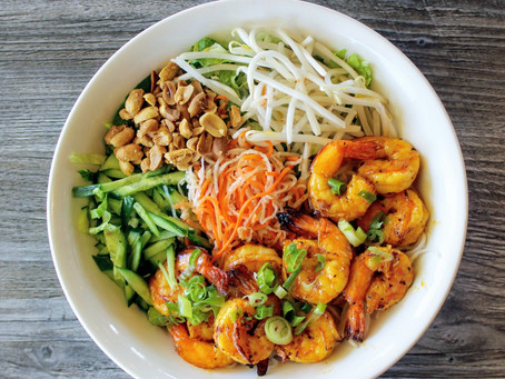 Bun Tom Nuong - Grilled Shrimp with Vermicelli