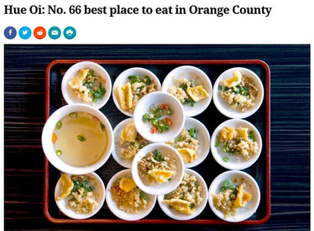 Hue Oi included in 75 Best Places to Eat in Orange County