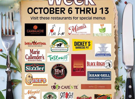 Fountain Valley Restaurant Week Oct 6th - 13th