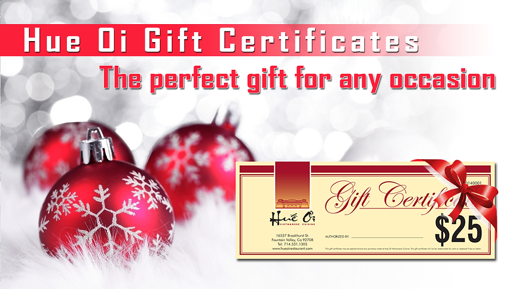 Hue Oi Gift Certificates