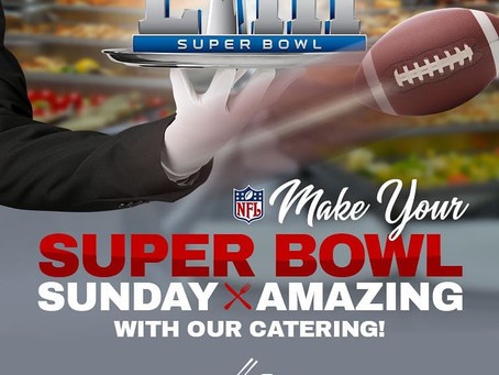 Make YOUR #SuperBowl SUNDAY 🏈🏟️EVEN more AMAZING with party trays from HUE OI !