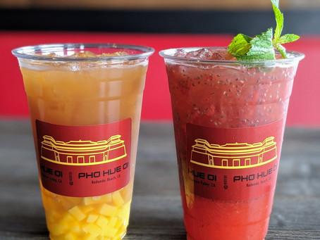 Mango Tango and Strawberry Lemonade Fizz