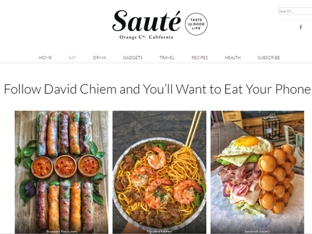 Thank you Sauté Magazine & David Hoàng Chiêm for the Shout Out! 🙏😍