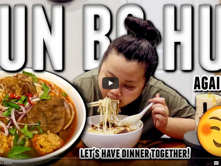 Another #BunBoHue #Mukbang Video from KIM THAI! Thank you for having our Bun Bo Hue on your show!