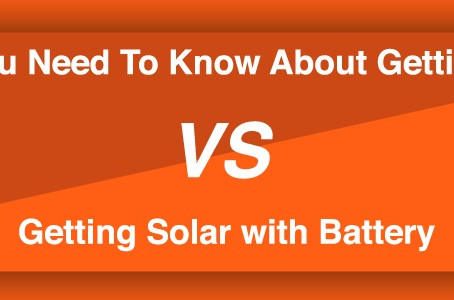 What You Need To Know About Getting Solar VS. Getting Solar with Battery