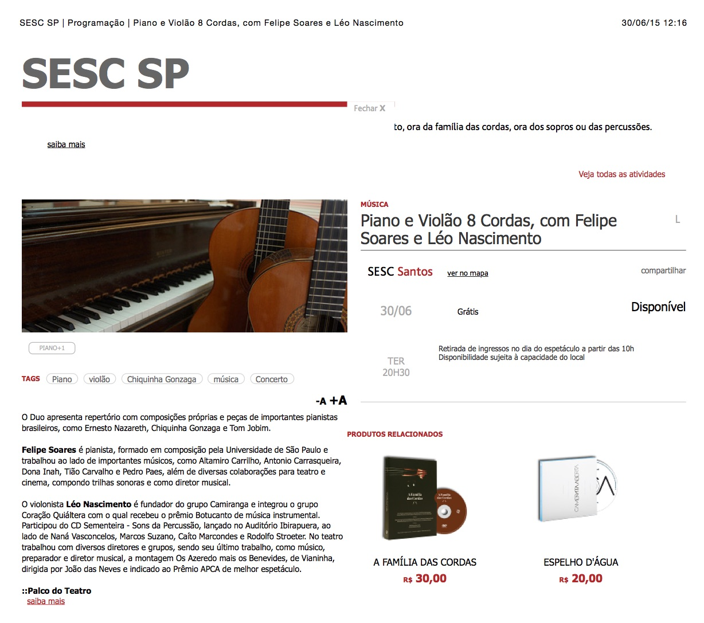 SESC_SP_|_Programação_|_Piano_e_Violão_8_Cordas,_com_Felipe_Soares_e_Léo_Nascimento Léo Nascimento