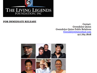 The Living Legends Foundation- Press Release