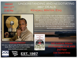 Upcoming seminar and book signing in Atlanta - UNDERSTANDING AND NEGOTIATING 360° Deals