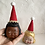 Thumbnail: CoHandmade doll head with black hair ( Pin cushion )