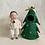 Thumbnail: Handmade doll wearing Christmas tree costume