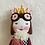 Thumbnail: Handmade doll wearing fingernails glasses