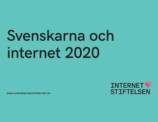 Svenskarna och internet 2020