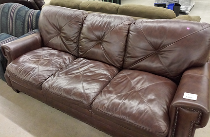 criss-cross brown leather couch $399.99.