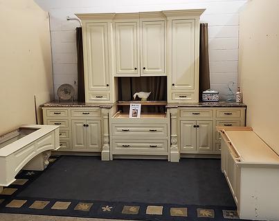 custom kitchen cabinets - white with gra
