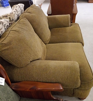 plush oversized brown love seat $149.99.