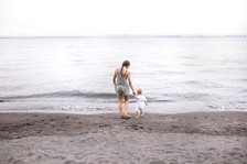 Mother and Baby on the Beach