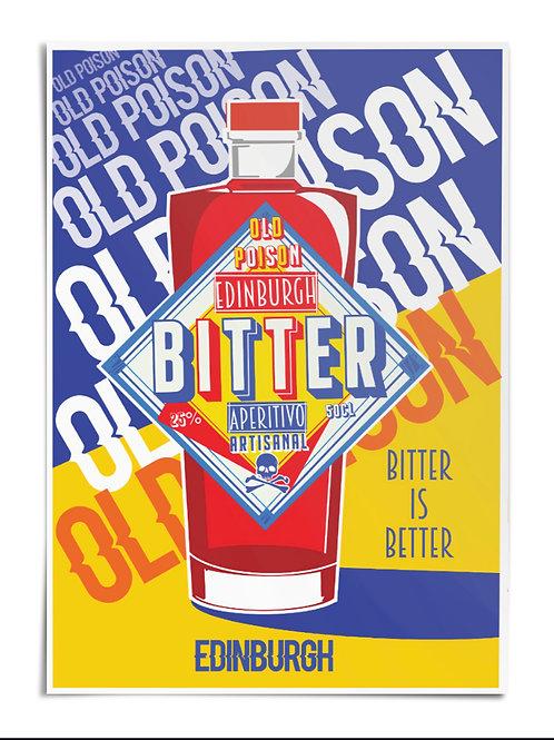 Edinburgh Bitter Aperitivo A3 Poster