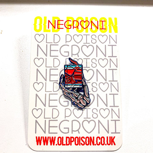 Enamel pin Negroni + A6 postcard Twisted negroni