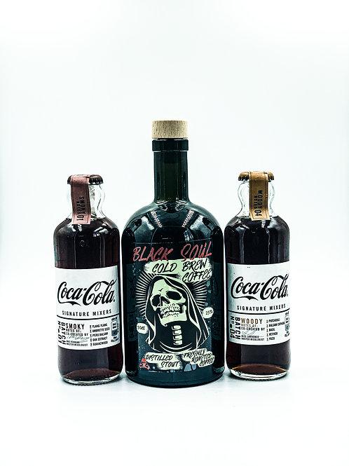 Black soul cold brew liqueur & FREE X2 coca-cola signature mixers