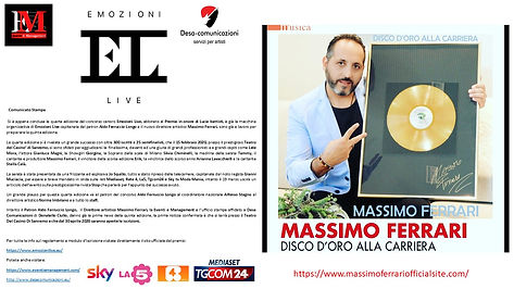 COVER MASSIMO FERRARI DIRETTORE ARTISTIC