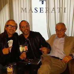 Con il grande Marco Balestri e il mitico Mario Luzzato Fegiz alla presentazione del mio disco Eccomi