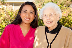 Happy Client and Caregiver
