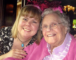 Snapshot of client and her dedicated caregiver