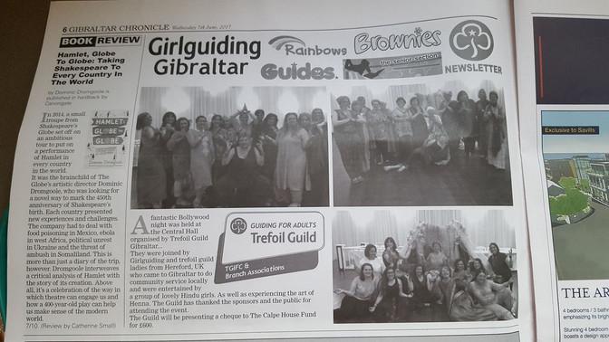 Bollywood collaboration with Girlguiding Gibraltar