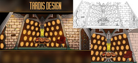 Made in 2021. Design for a Tardis from Doctor Who, requested by a friend.