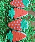 easter cookies, carrot cookies