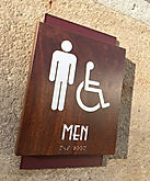 Sample 2 of Braille Signage in Wood