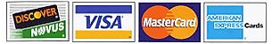 Discover, Visa, MasterCard, American Express Logo