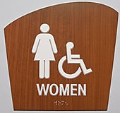 Sample of Wooden Braille Signage
