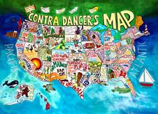 Contra Dancer's Map