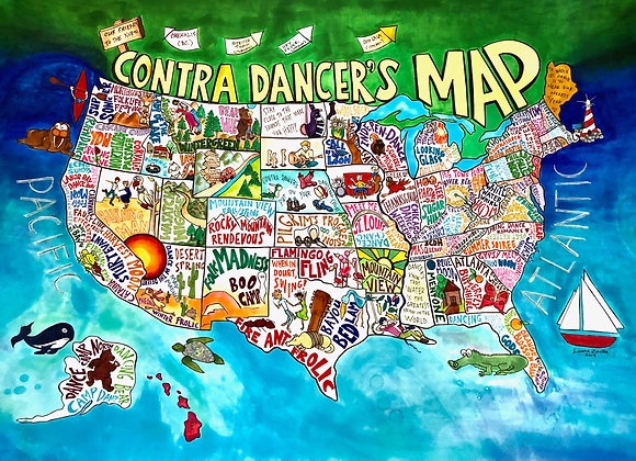 Contra Dancer's Map